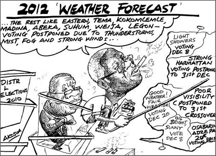 "Akosua- 2012 ""Election"" weather forecast"