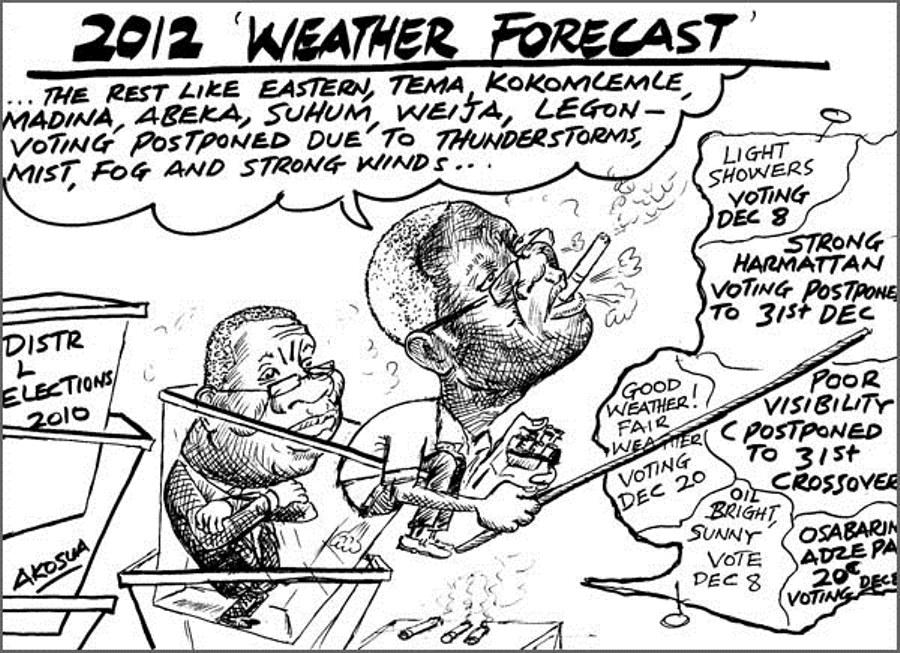 "Akosua- 2012 ""Election"" weather forecast"