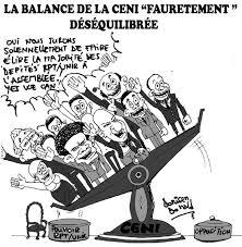 La balance de la CENI Fauretement desequilibree