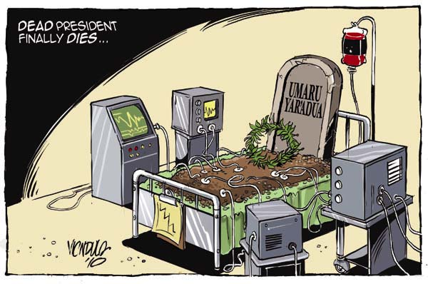Dead president finally dies