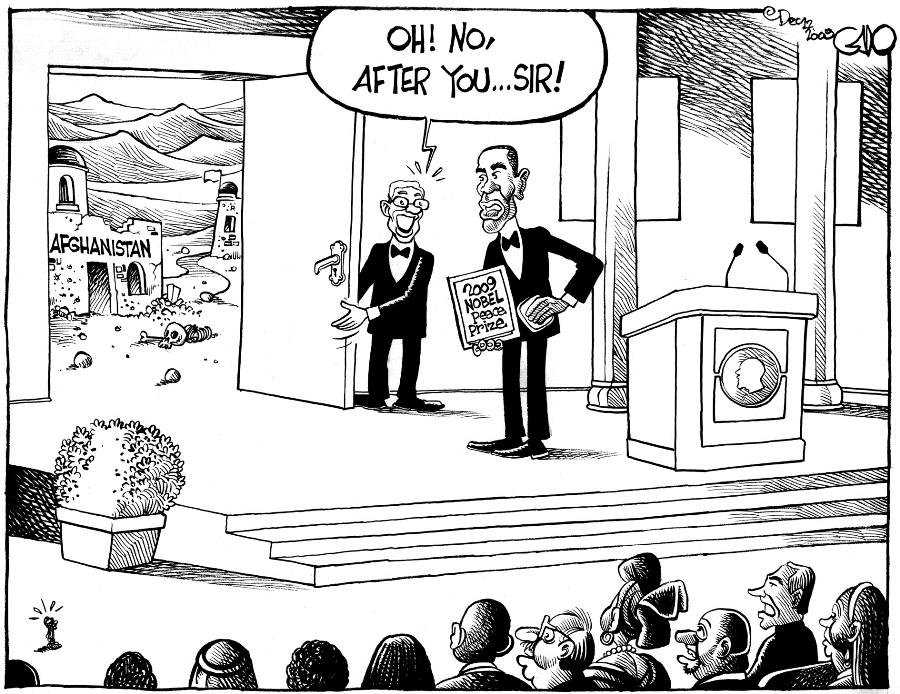 Dec 12 09 Obama, Nobel and Afghanistan
