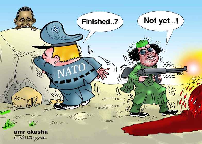 Amr Okasha - Gaddafi and NATO: Gadhafi Kills While NATO Looks Away