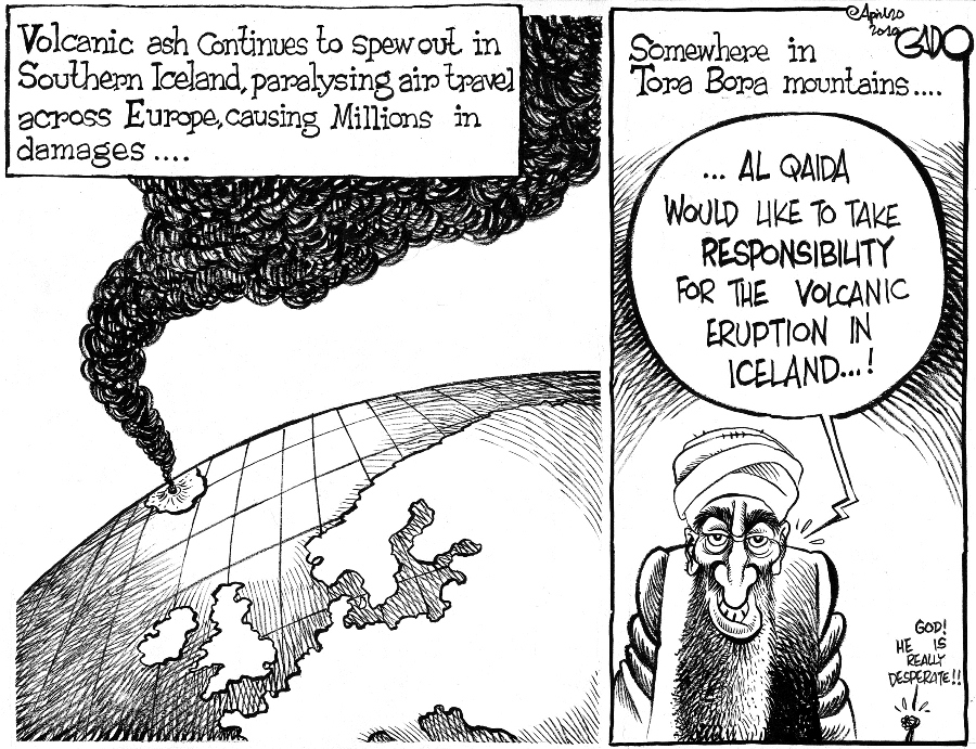 Gado- Al Qaida Osama and Iceland Volcanic Ashes