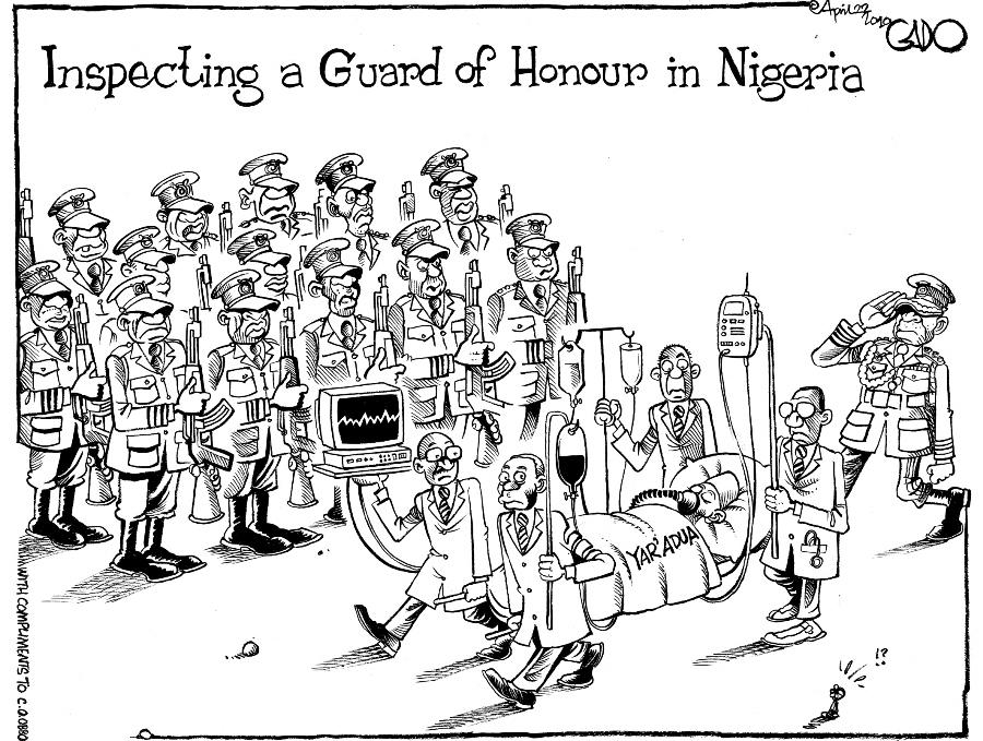 Gado-Guard of Honour in Nigeria