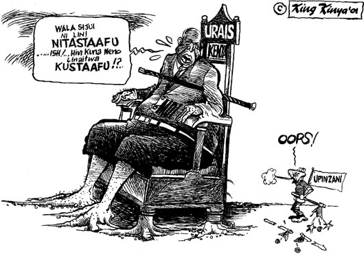 King Kinya- No hope for Oposition, Kenya