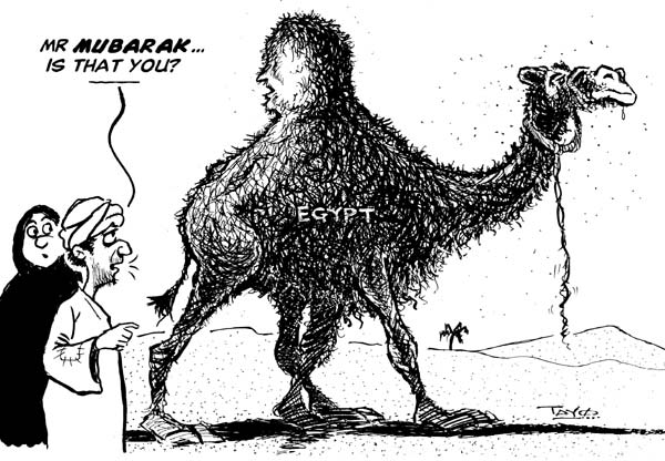 Mubarak disguised as a camel feb152011