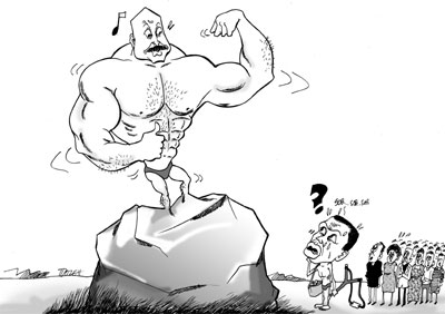 Museveni as towering corpulent