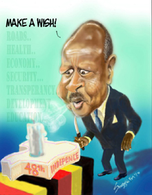 Museveni candle of 48th indep anniversary