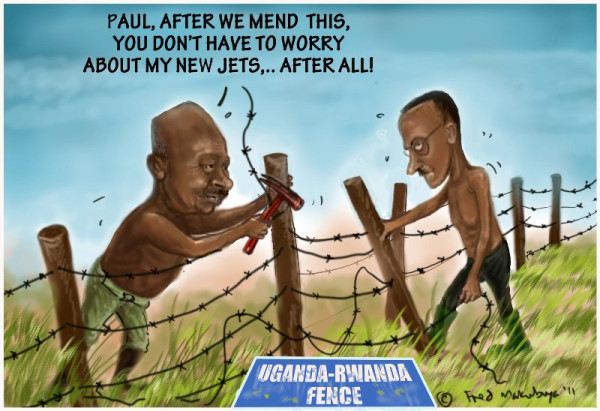 Uganda Rwanda fence