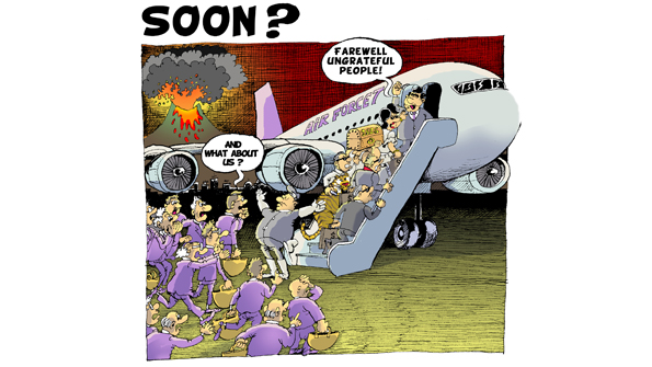 Z Exodus Soon_ The cartoon appeared several weeks before the Tunisian dictator fled