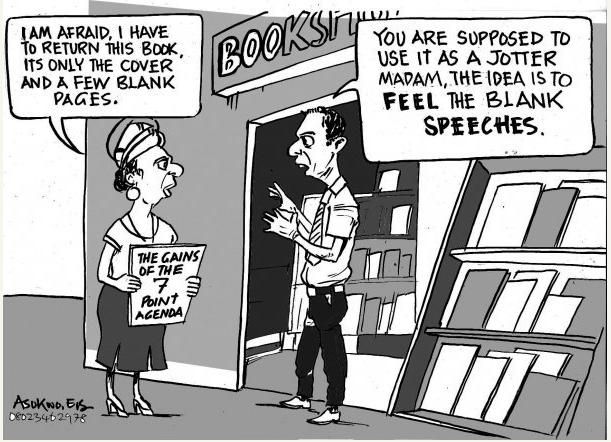 EB Asukwo- Book Return cartoon