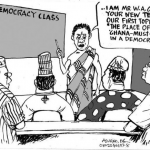 EB Asukwo- Democracy Class cartoon