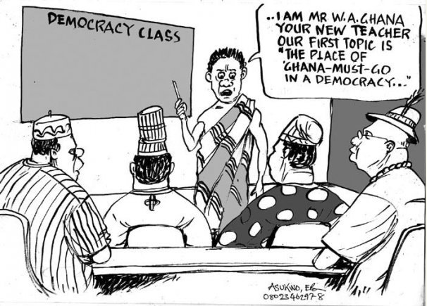 EB Asukwo- Democracy Class cartoon