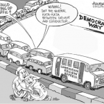 EB Asukwo- Democracy Way cartoon