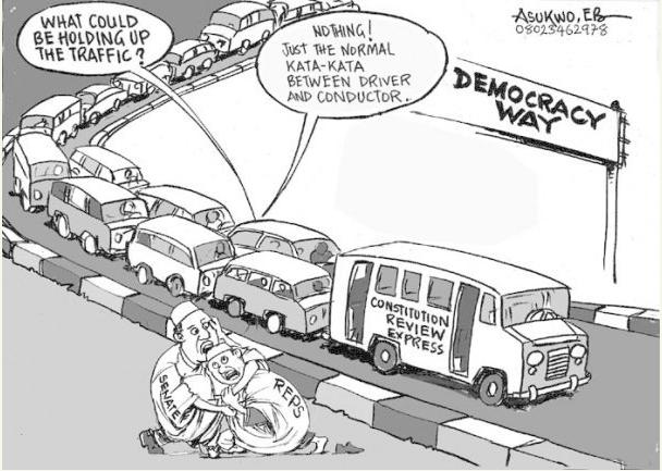 EB Asukwo- Democracy Way cartoon