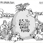 EB Asukwo- Excessive Crude Fund cartoon