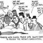 EB Asukwo- Faulty Constitution cartoon