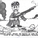 EB Asukwo- JTF Combatant cartoon