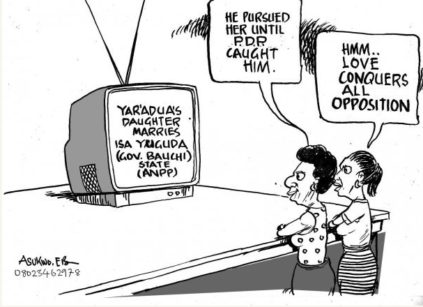EB Asukwo- Love Conquers Opposition cartoon