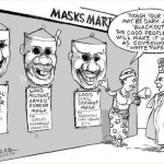 EB Asukwo- Masks Mart cartoon