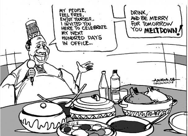 EB Asukwo- Tomorrow You Meltdown cartoon