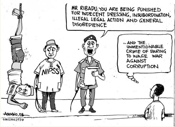 EB Asukwo- War Against Corruption cartoon