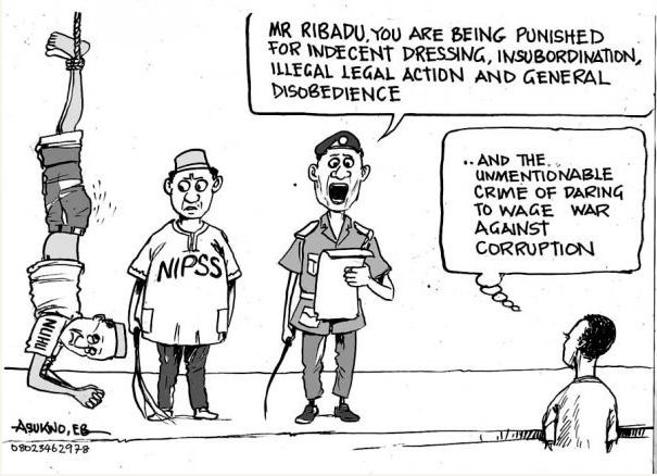 EB Asukwo- War Against Corruption cartoon