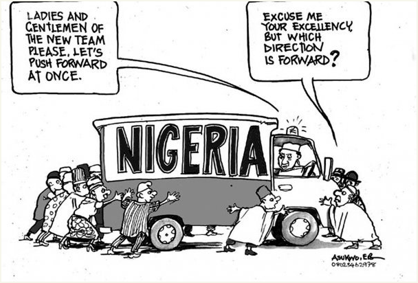 EB Asukwo- Which Way is Forward cartoon