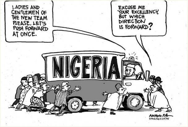 EB Asukwo- Which Way is Forward cartoon