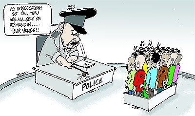 congestion in police custody