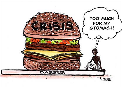 darfur as too much crisis burger to eat