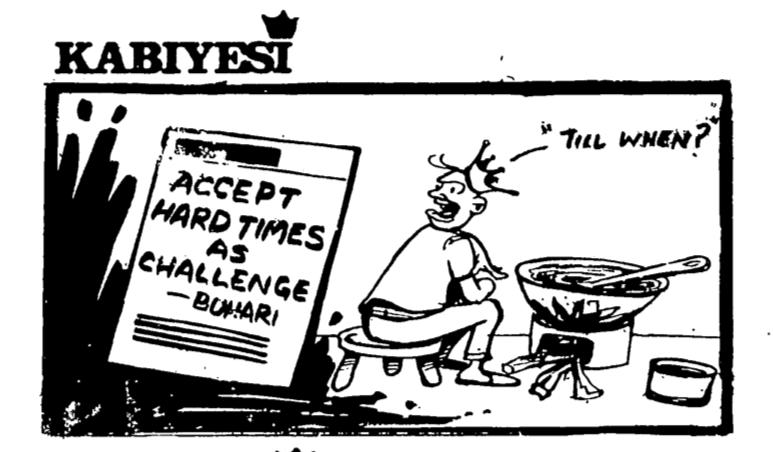 Dotun Gboyega- Accept Hard Times cartoon