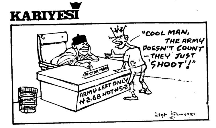 Dotun Gboyega- Army Doesn't Count cartoon