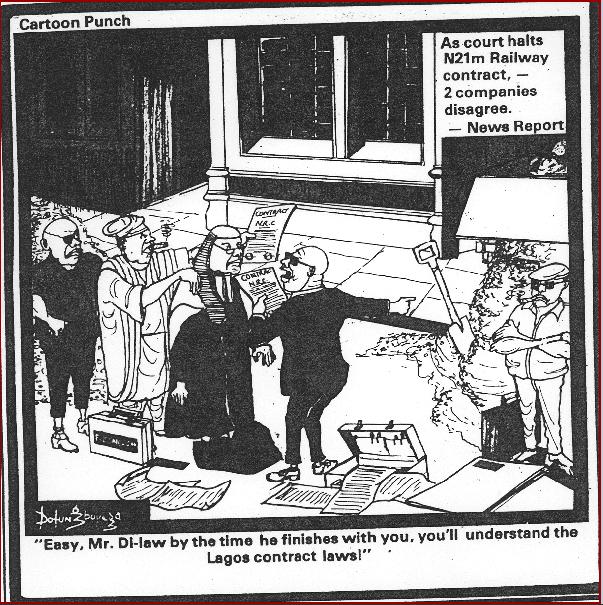 Dotun Gboyega- Contract Law cartoon