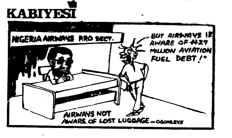 Dotun Gboyega- Lost Luggage cartoon