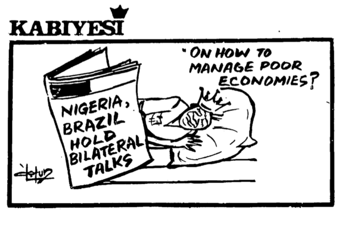 Dotun Gboyega- Managing Poor Economies cartoon