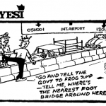 Dotun Gboyega- Nearest Foot Bridge cartoon