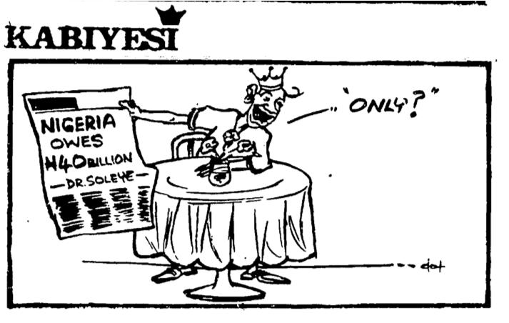 Dotun Gboyega- Nigeria Owes cartoon