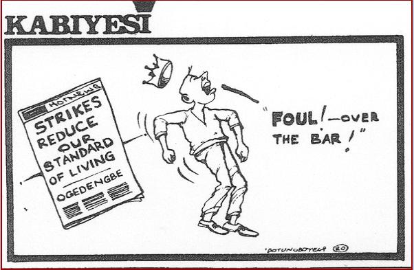 Dotun Gboyega- Strikes Reduce Living Standard cartoon