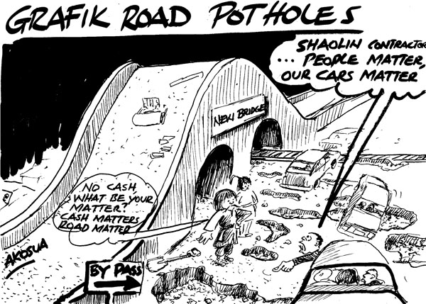Akosua-Grafick road potholes