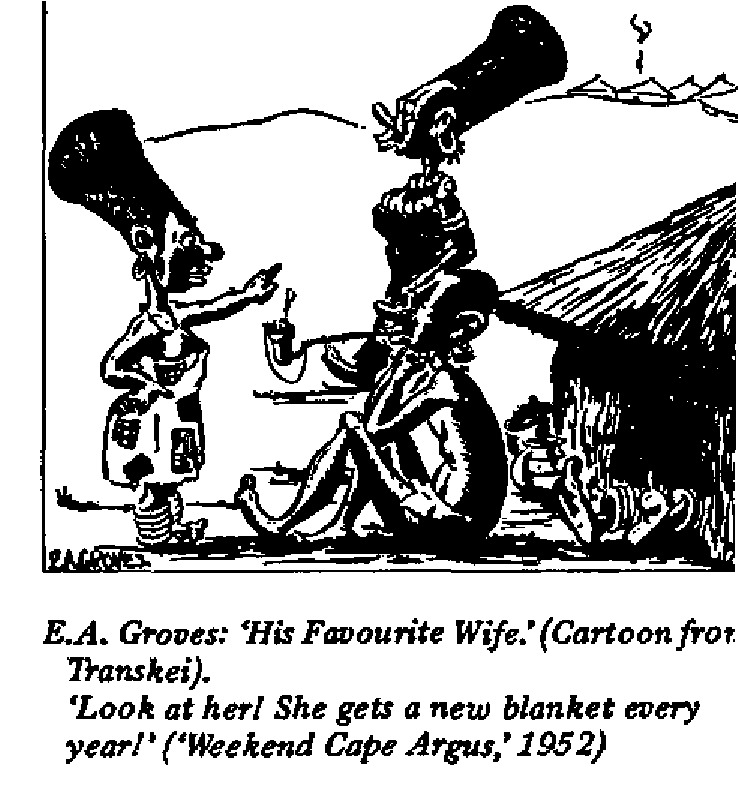 E.A. Groves- His Favorite Wife cartoon