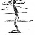 E.A. Groves- Self Caricature