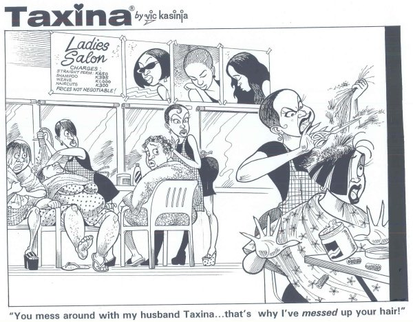 Vic Kasinja - Angry Hairdresser Destroys Taxina's Hair