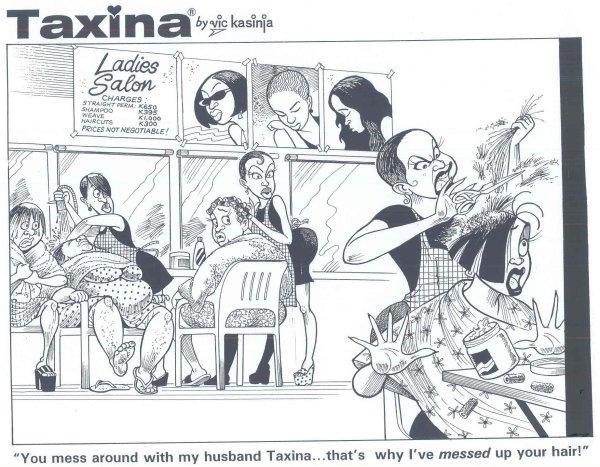 Vic Kasinja - Angry Hairdresser Destroys Taxina's Hair