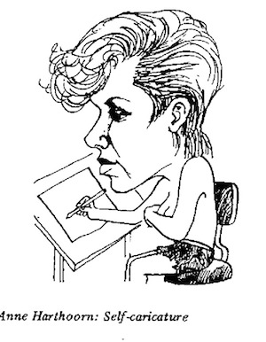 Anne Harthoorn self caricature