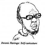 Dennis Havinga self caricature