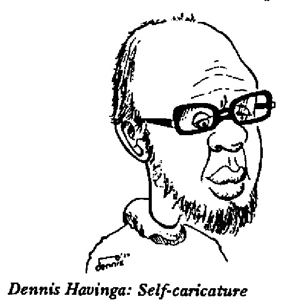Dennis Havinga self caricature