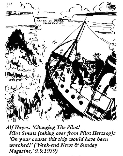 Alf Hayes- Changing the Pilot cartoon