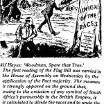 Alf Hayes- Woodman, Spare That Tree cartoon