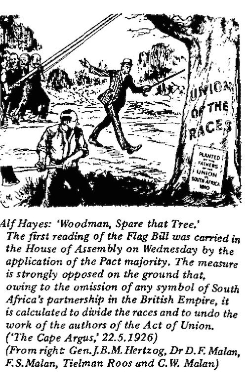 Alf Hayes- Woodman, Spare That Tree cartoon
